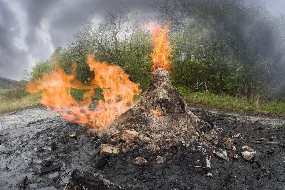 Єдиний у світі вулкан з бруду раз на сім років діє на Прикарпатті. ФОТО, фото-1