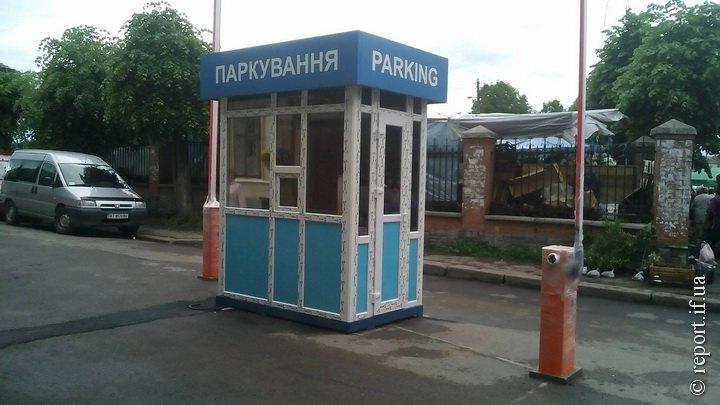 Шлагбаум у центрі Івано-Франківська - незаконний, фото-1