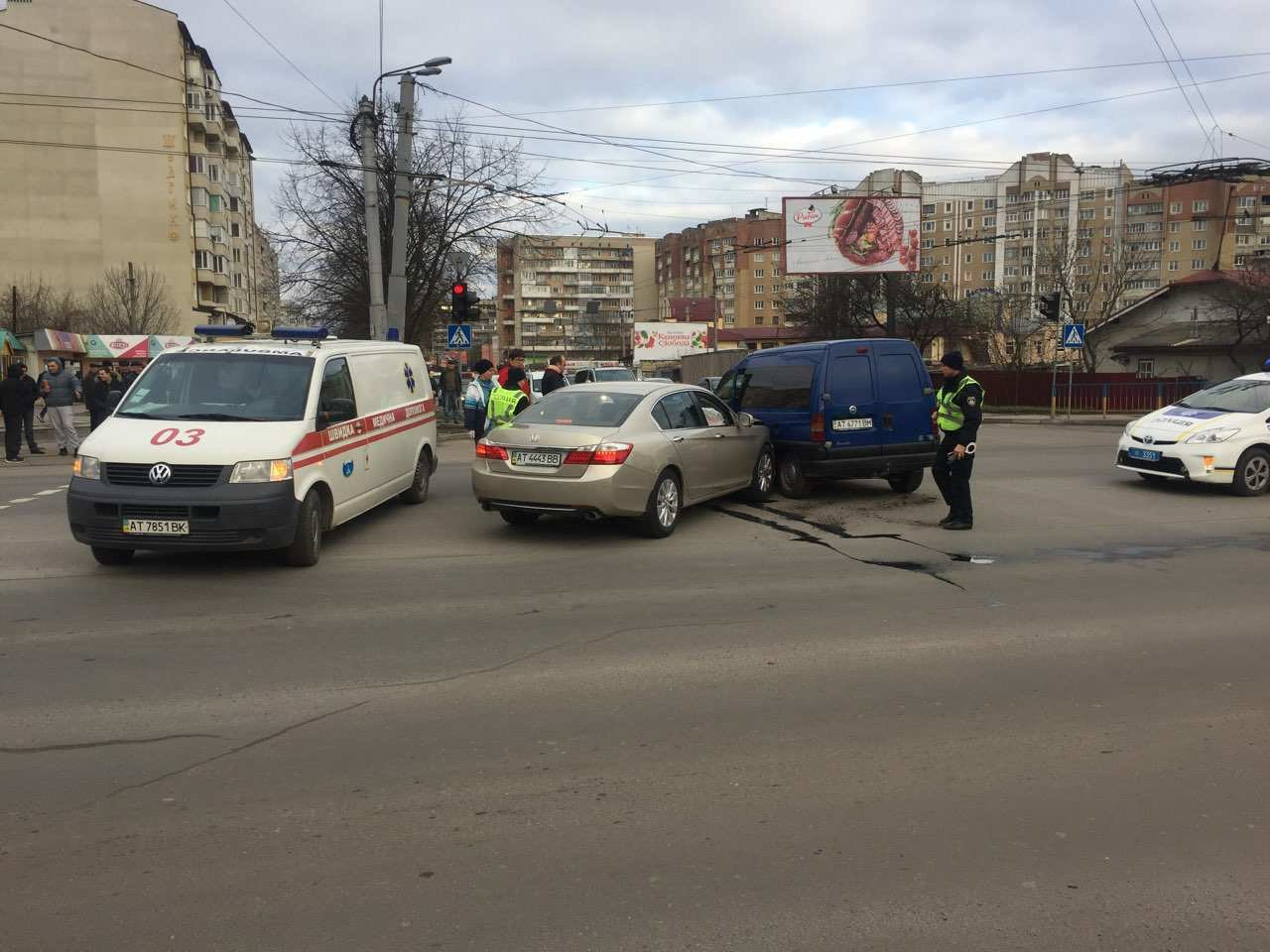 ДТП у Франківську спричинила затор. ФОТО, фото-1