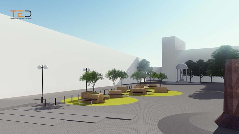 Цього року планують громадський простір на майдані Шептицького у Франківську. ПРОЕКТ, фото-1