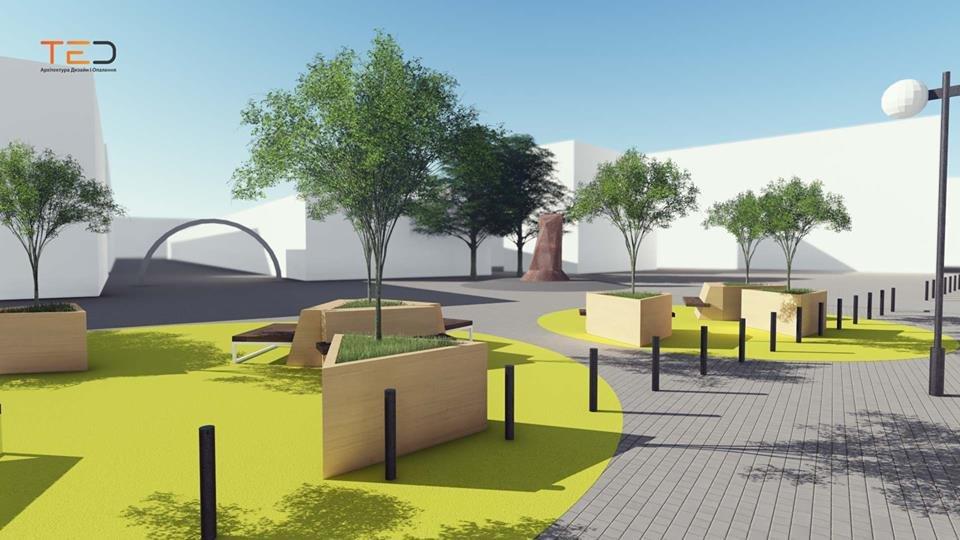 Цього року планують громадський простір на майдані Шептицького у Франківську. ПРОЕКТ, фото-3