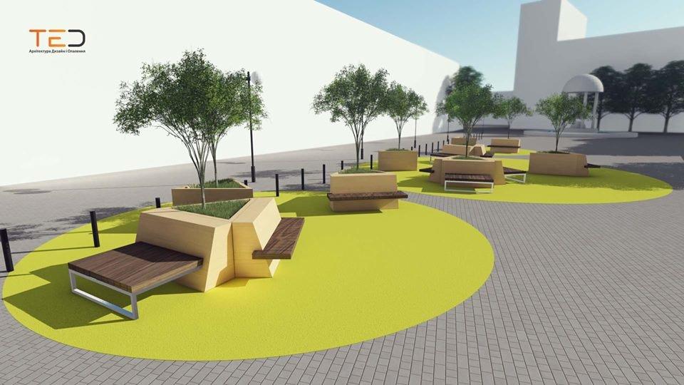 Цього року планують громадський простір на майдані Шептицького у Франківську. ПРОЕКТ, фото-4