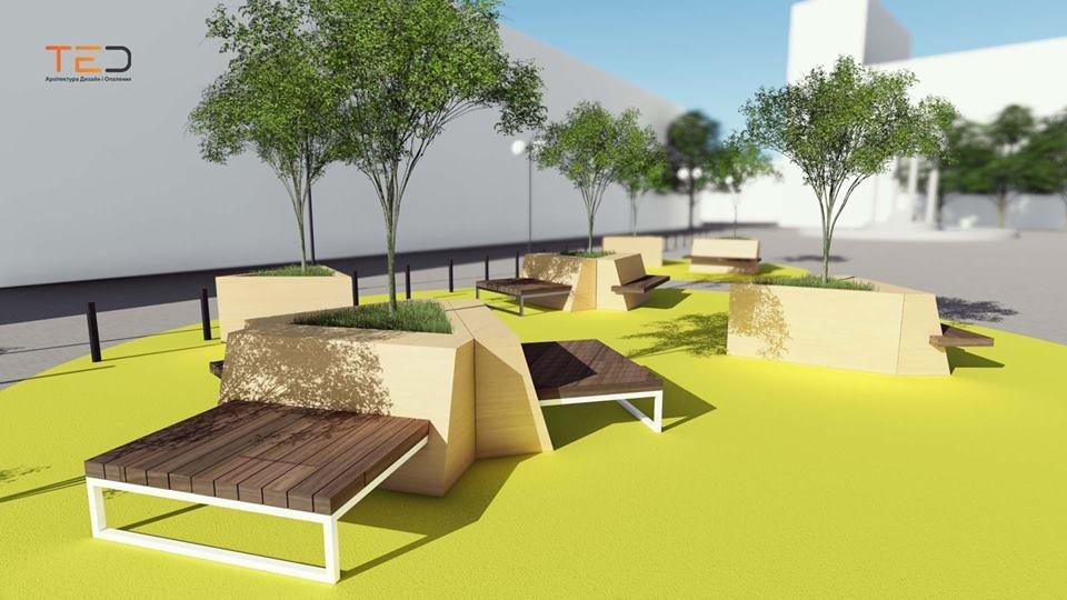 Цього року планують громадський простір на майдані Шептицького у Франківську. ПРОЕКТ, фото-5