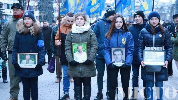 Франківськом пройшлась пам'ятна хода на честь Героїв Небесної Сотні. ФОТО, фото-3