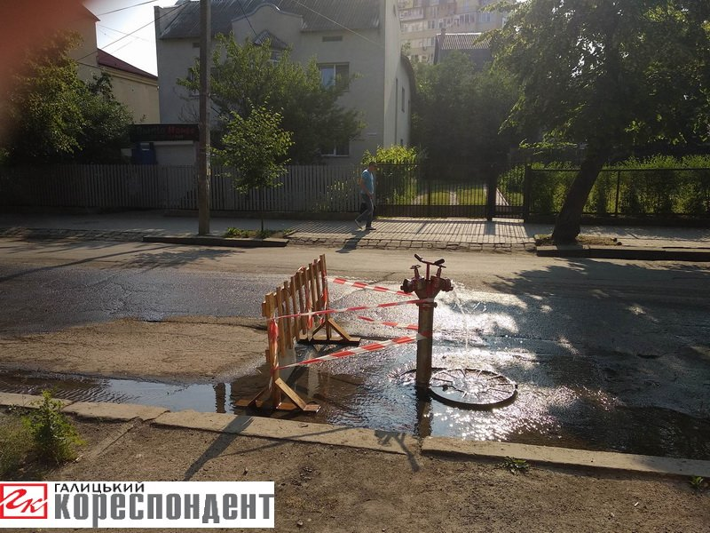Через прорив пожежного гідранта на Коновальця садки тимчасово залишаться без води. ФОТО, фото-1