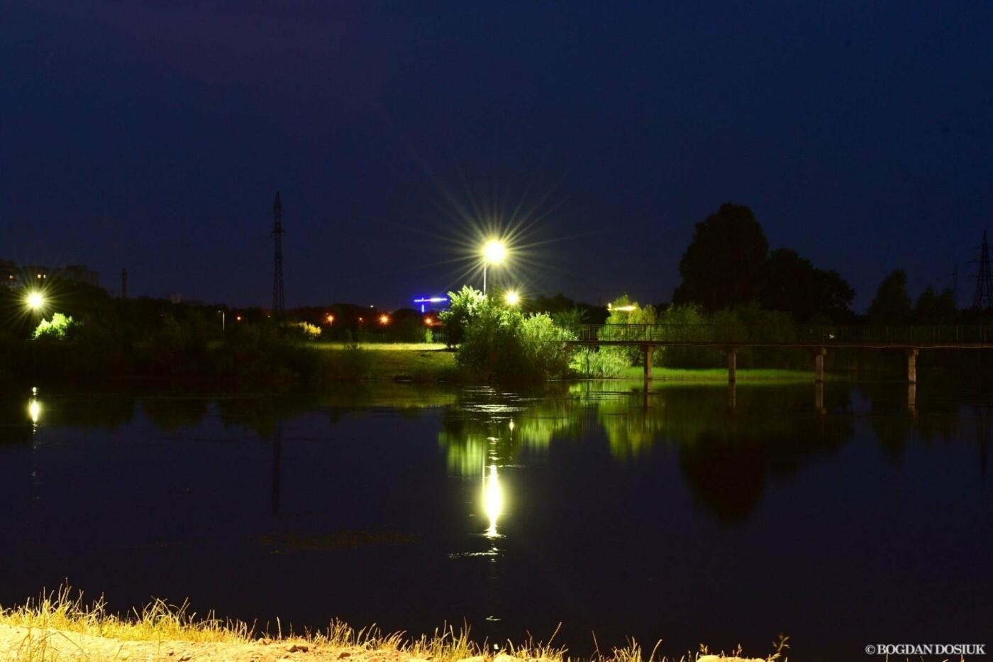 На Німецькому озері у Франківську вечорами – світліше. ФОТО, фото-3