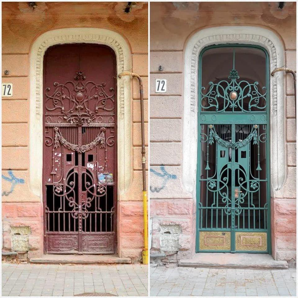 У Франківську на вулиці Шевченка з'явились відреставровані двері. ФОТО, фото-3