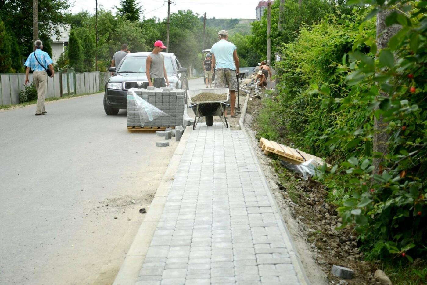 В Крихівцях та Вовчинці облаштовують тротуари. ФОТО, фото-4