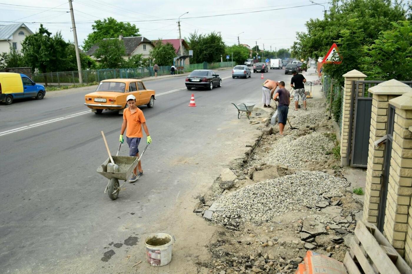 В Крихівцях та Вовчинці облаштовують тротуари. ФОТО, фото-8