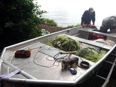 Рибоохоронний патруль вилучив  три стометрові сітки та 30 кг риби. ФОТО, фото-3