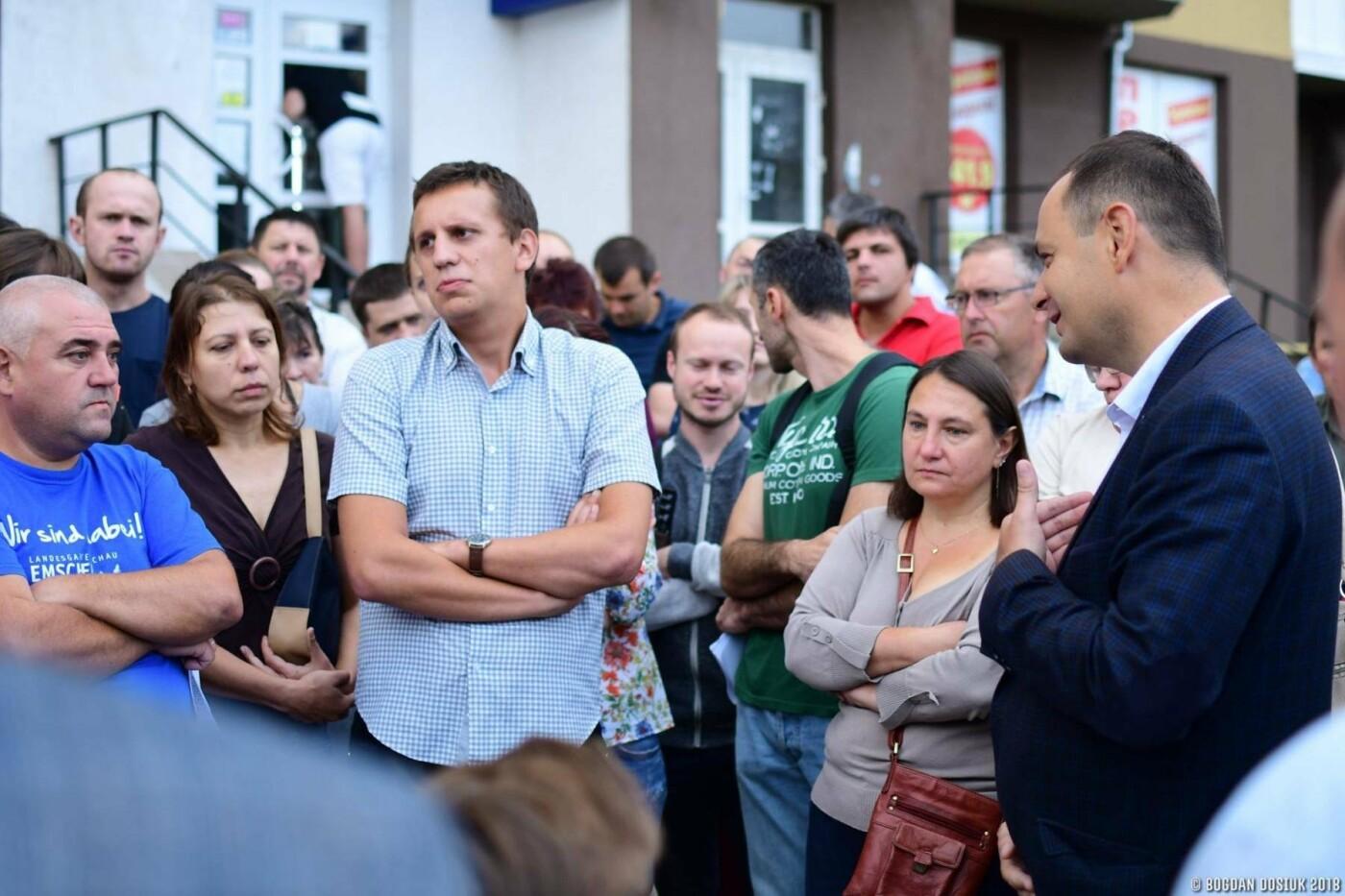 Міський голова зустрівся з протестувальниками з Пасічної. ФОТО , фото-3