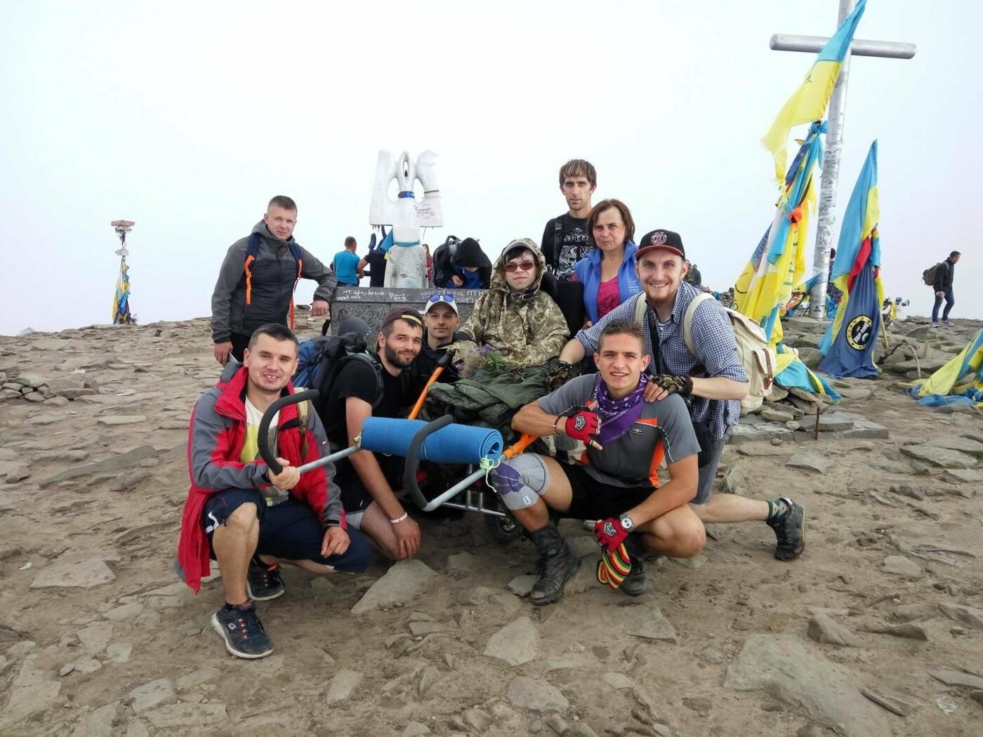 Мрія-Говерла: прикарпатець на візку підкорив найвищу гору Карпат. ФОТО, фото-1