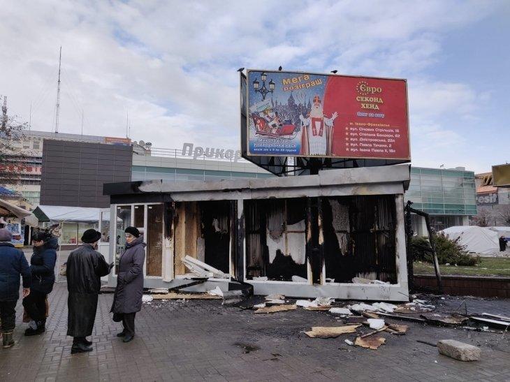 МАФ, якого встановили в центрі Івано-Франківська - згорів, фото-1