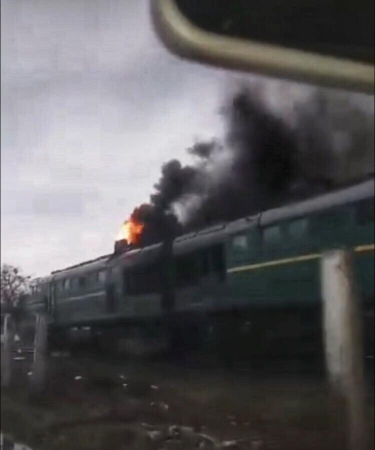 В Івано-Франківську загорівся потяг, фото-1