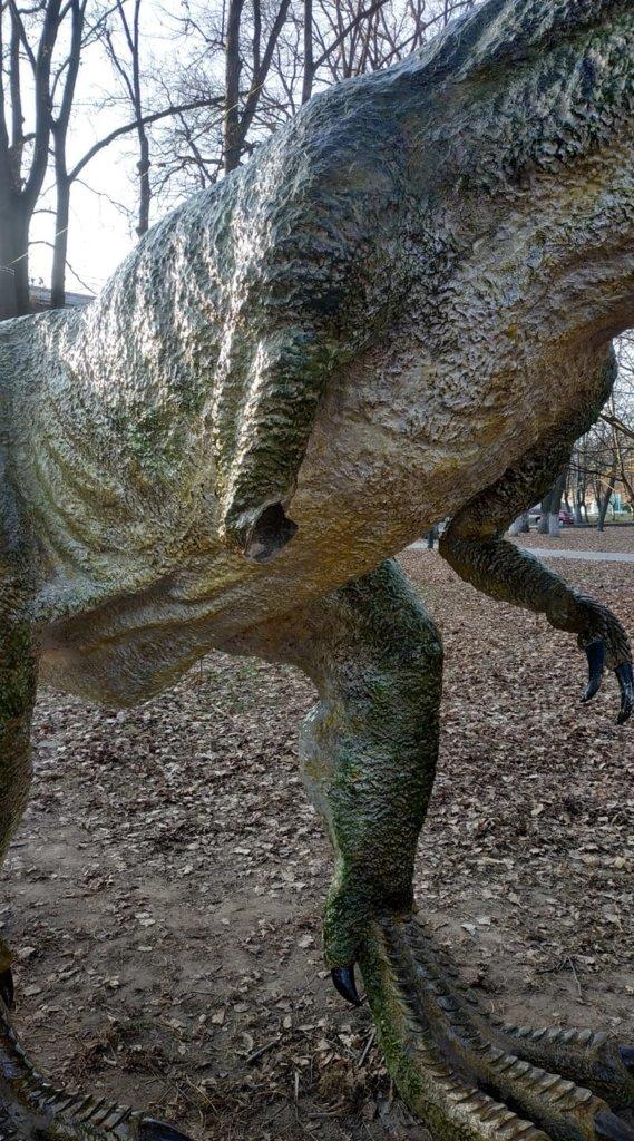 Група п'яних вандалів товклася по динозавру, поки не відламали лапу , фото-1