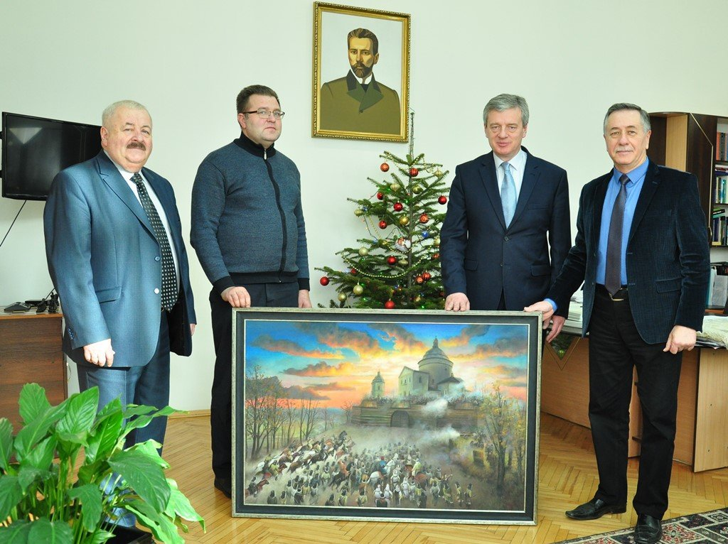 Унікальну картину від франківських студентів-художників отримав Гошівський монастир (ФОТО), фото-2