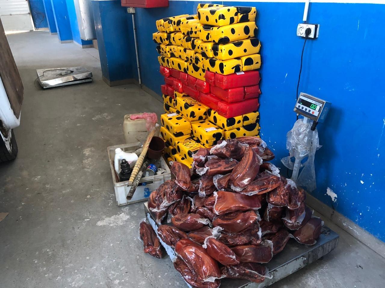 Українець намагався привезти з Польщі майже 1,5 тонни м'яса, сала та сиру (фото), фото-1
