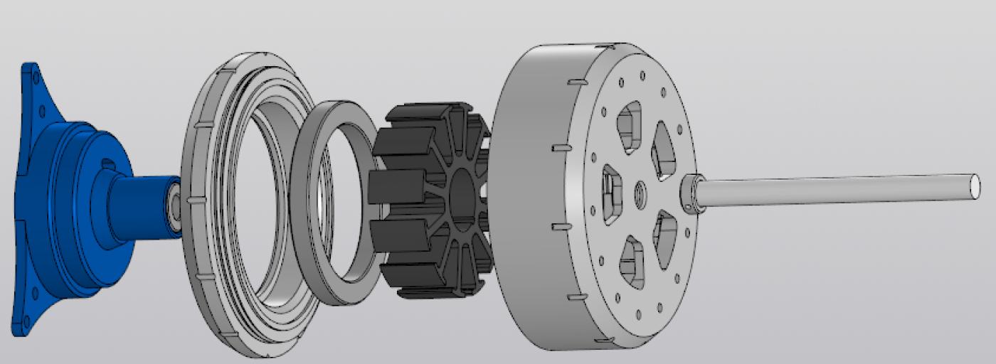 Студент ІФНТУНГ за допомогою 3D друку виготовив безколекторний електродвигун (фото), фото-2