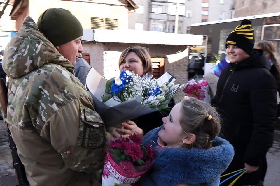 Зведений загін поліціянтів Прикарпаття повернувся із зони проведення ООС (ФОТО, ВІДЕО), фото-3