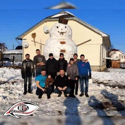 Рекордного сніговика зліпили на Прикарпатті, фото-2