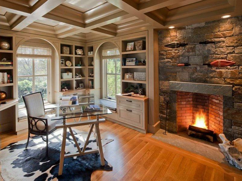 Дизайн залу з каміном. Ідеї та основні тренди  оформлення, фото-3