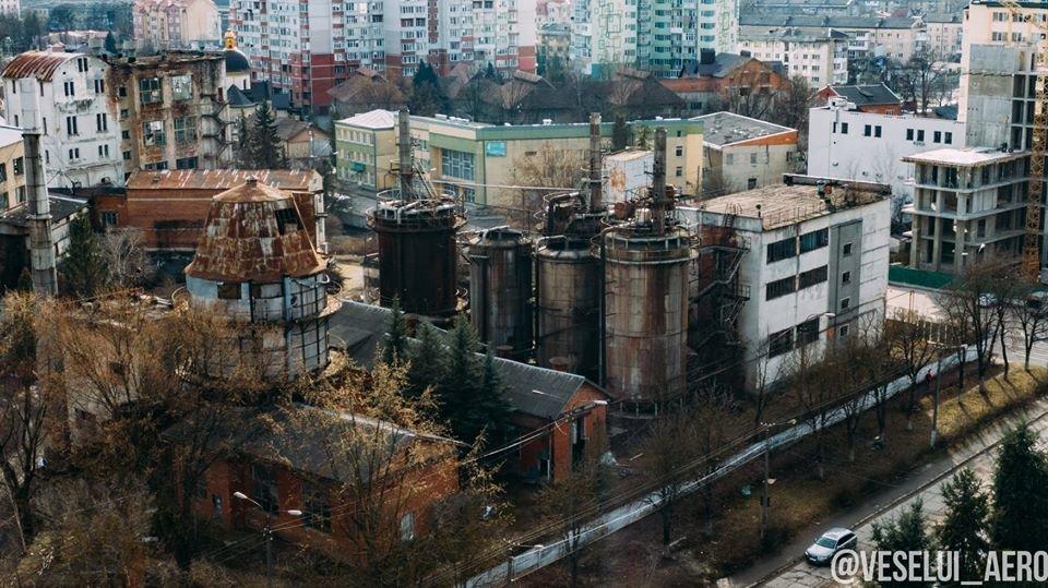 В мережі з'явилися фото колишнього спиртзаводу у Франківську з висоти, фото-1