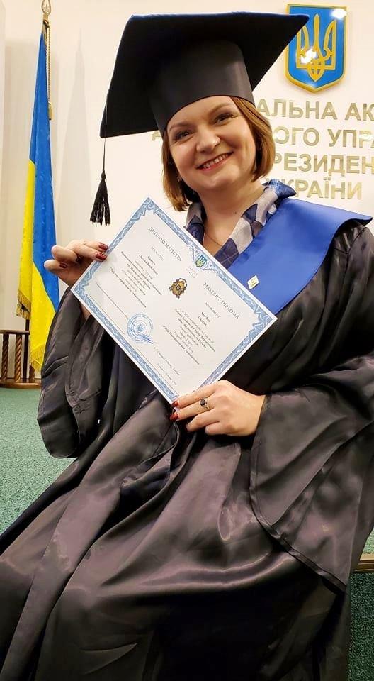 Народний депутат від Івано-Франківська Оксана Савчук здобула диплом магістра державного управління, фото-1