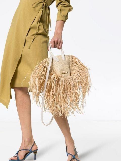 Трендові солом'яні сумки 2020. Фото - pinterest.ru