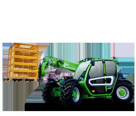 Навантажувачі Merlo для будь яких допоміжних робот у господарстві.   Висота підйому стріли   min - 5m  max - 35m  Потужність двигунів залежно від моделі:  min - 50к.с  max - 170к.с